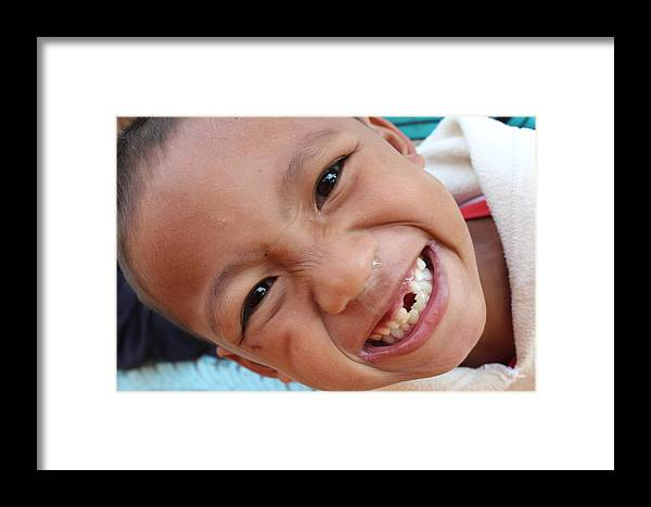 Power Of Smile Framed Print featuring the photograph Power Of Smile by Koh A young