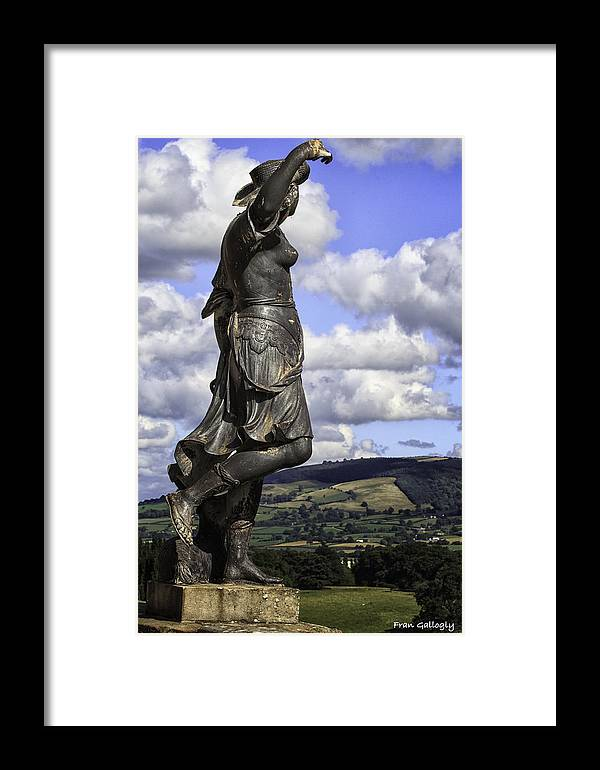 Wales Framed Print featuring the photograph Powis Castle Statuary by Fran Gallogly