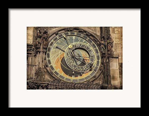 Joan Carroll Framed Print featuring the photograph Prague Astronomical Clock by Joan Carroll