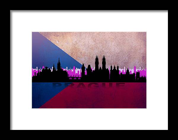 Architecture Framed Print featuring the digital art Prague City by Don Kuing