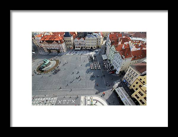 Tranquility Framed Print featuring the photograph Prague Old Town Square by J.castro