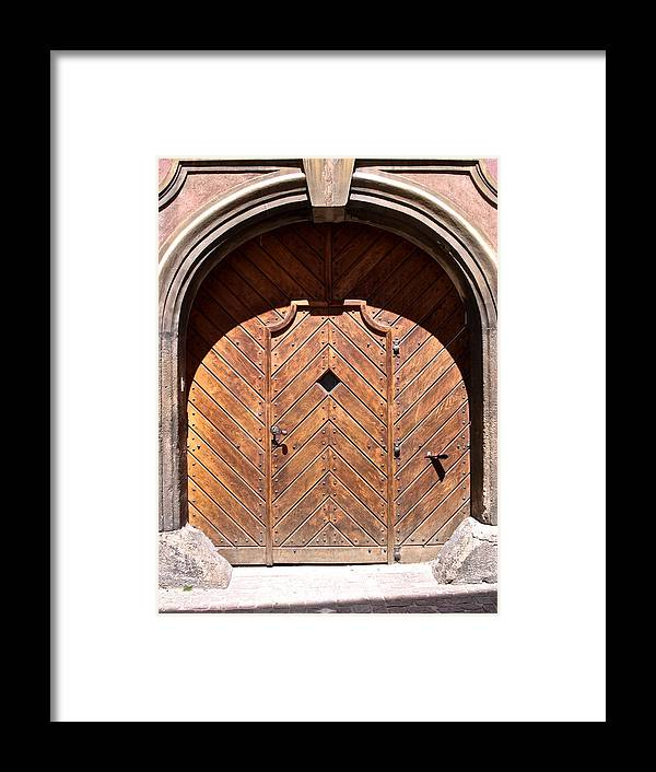Old Door Framed Print featuring the photograph Praugue 2 by Just fotos By Katie Fonken