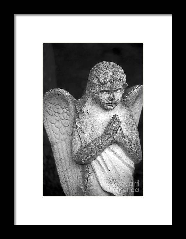 Angel Framed Print featuring the photograph Praying Angel 2 by Leslie Cruz