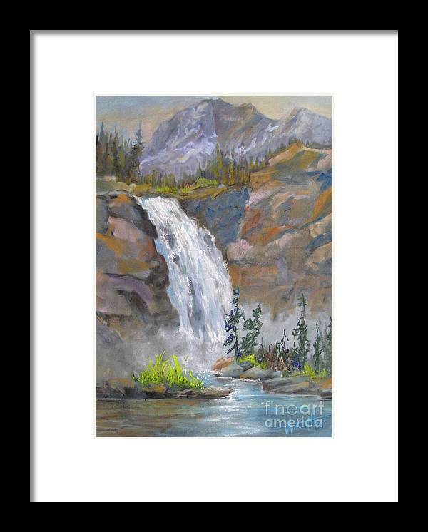 Background Framed Print featuring the painting Precipitous Falls by Mohamed Hirji