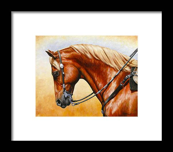 Horse Framed Print featuring the painting Precision - Horse Painting by Crista Forest
