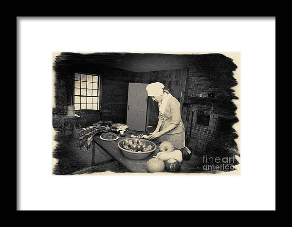 Photograph Framed Print featuring the photograph Preparing Dinner by Jan Tyler