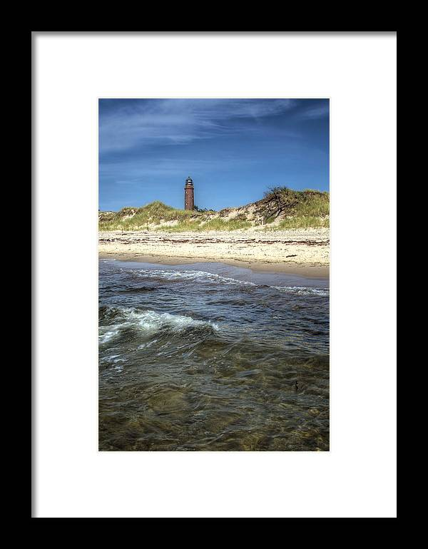 Ostsee Framed Print featuring the pyrography Prerow Lightning by Steffen Gierok