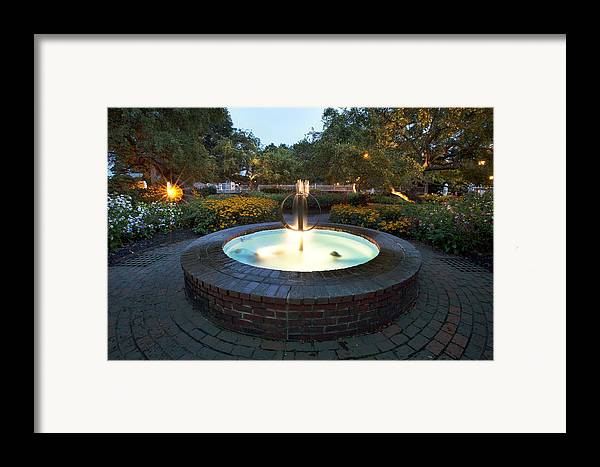 Prescott Fountain Framed Print featuring the photograph Prescott Fountain by Eric Gendron