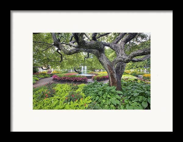 Prescott Garden Framed Print featuring the photograph Prescott Garden by Eric Gendron