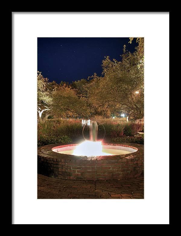 Prescott Park Framed Print featuring the photograph Prescott Park Fountain by Joann Vitali