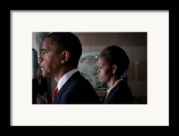 Barack Obama Framed Print featuring the photograph President And Mrs Obama by Mountain Dreams