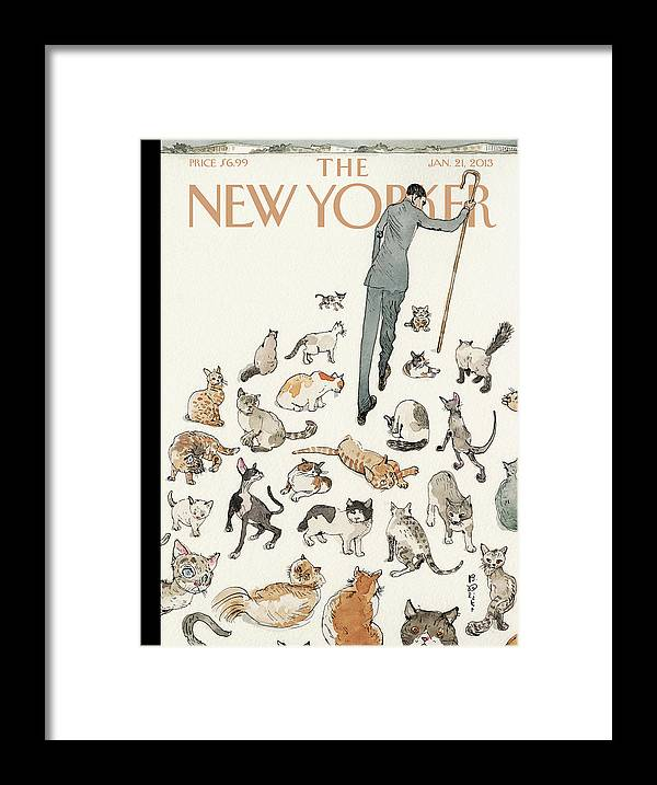 Congress Framed Print featuring the painting Herding Cats by Barry Blitt