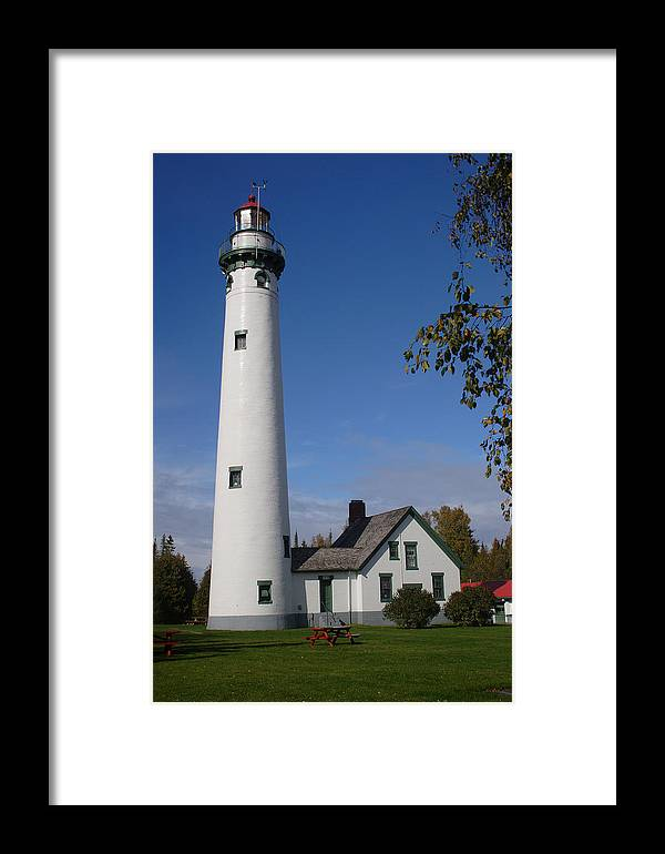 Lighthouse Framed Print featuring the photograph Presque Isle Mi Lighthouse 5 by John Brueske
