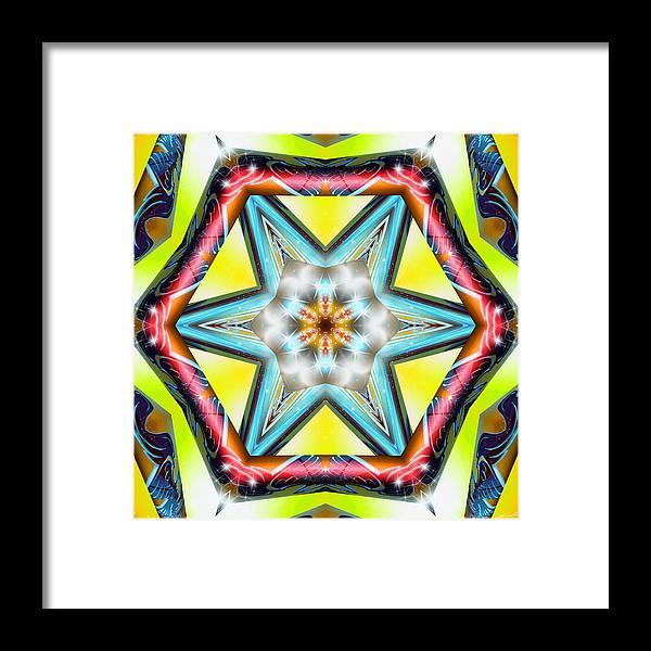 Sacredlife Mandalas Framed Print featuring the digital art Pressurized by Derek Gedney