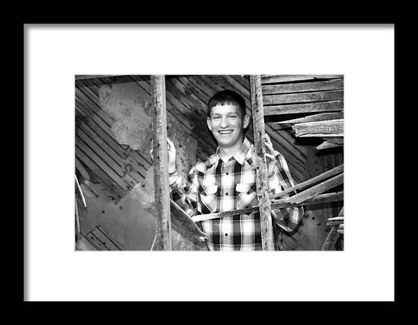 Brett Herr Framed Print featuring the photograph Preston Bw by Michele Richter