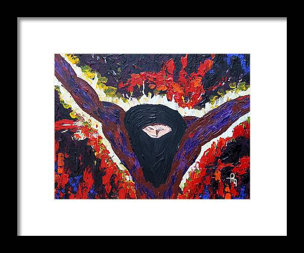 Jesus Framed Print featuring the painting Price Of The Sacrifice by Michael Greeley