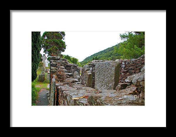 Glendalough Framed Print featuring the photograph Priest's House by Nancy L Marshall