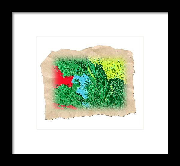 Abstract Framed Print featuring the photograph Primitive by Dart and Suze Humeston