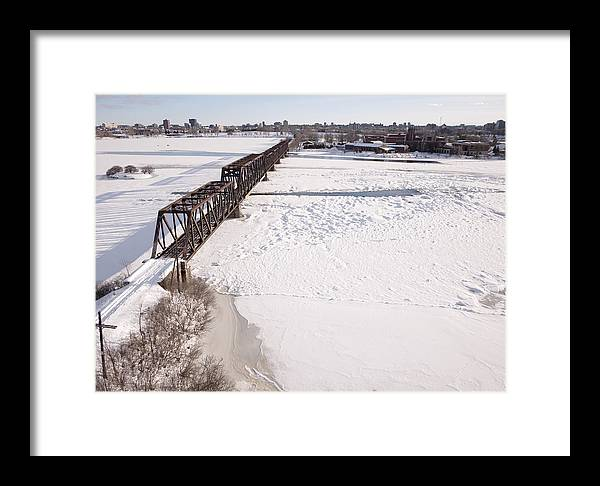 Canada Framed Print featuring the photograph Prince Of Wales Railway Bridge, Ottawa by Rob Huntley