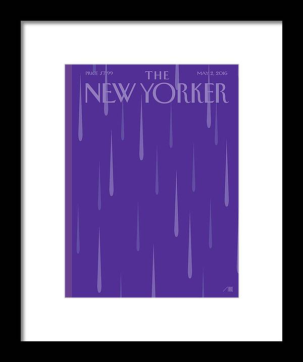 Prince Framed Print featuring the painting Purple Rain by Bob Staake