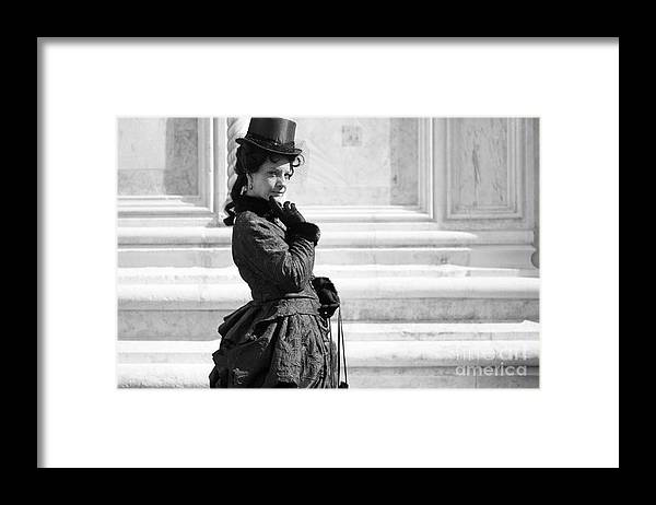 Mask Framed Print featuring the photograph Princess Sissi Venezia by Riccardo Mottola