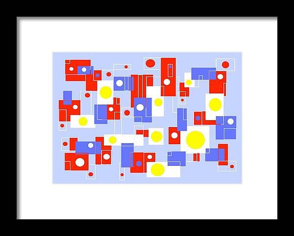 Bright Framed Print featuring the digital art Print No 65 by Carol Shoemaker