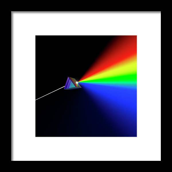 Blue Framed Print featuring the photograph Prism Abstract by David Parker