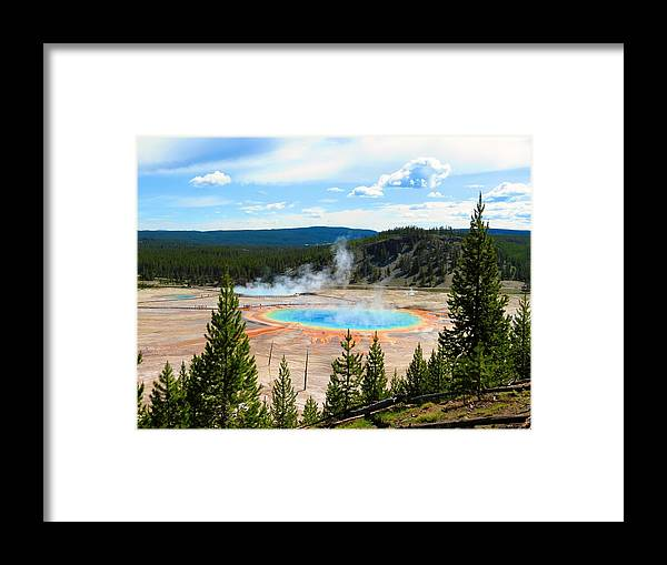 Yellowstone Framed Print featuring the photograph Prismatic Wonder by Karen Briggs