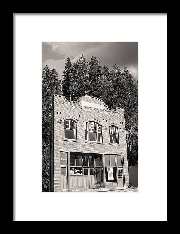 Wilekson Washington Framed Print featuring the photograph Private Wilkeson Town B And W by Michael DeMello