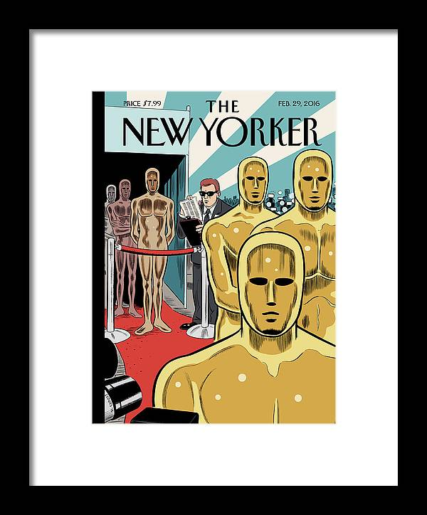 Oscars Framed Print featuring the painting Privileged Characters by Daniel Clowes