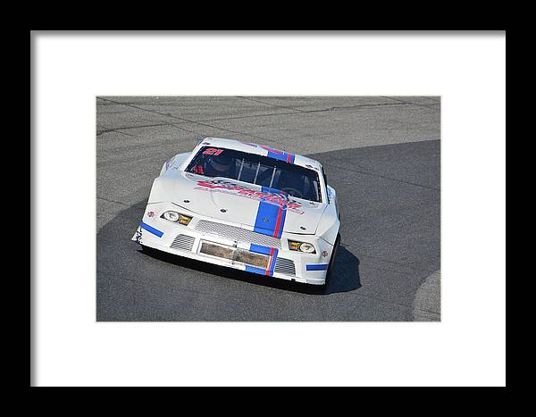 Race Framed Print featuring the photograph Pro Late Model 21 by Mike Martin