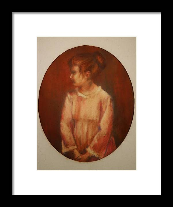 Framed Print featuring the painting Profile by Helen Hickey