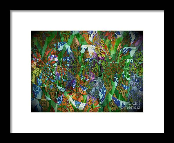 Abstract Art Framed Print featuring the photograph Profusion Of Colors by Kathie Chicoine