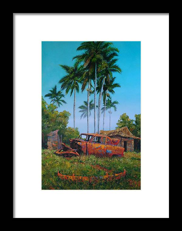 Landscape Framed Print featuring the painting Properties by Arien Xuan Lopez