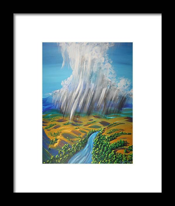 Rain Framed Print featuring the painting Prophesy My Reign My River by Gary Rowell