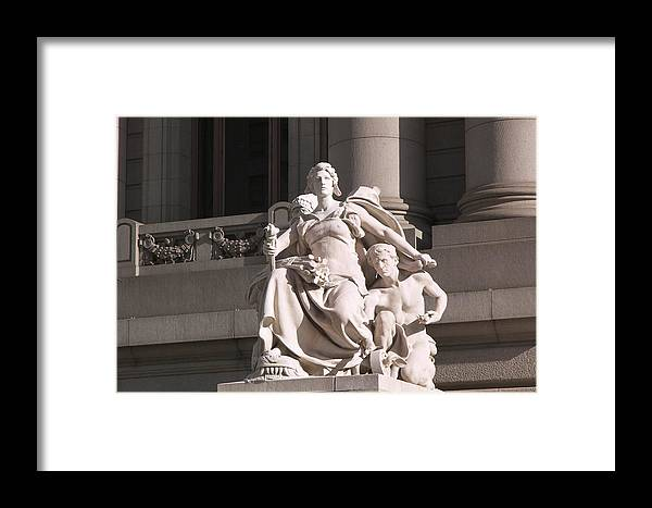 Wall Street Framed Print featuring the photograph Protecting A Custom by Sharla Gentile
