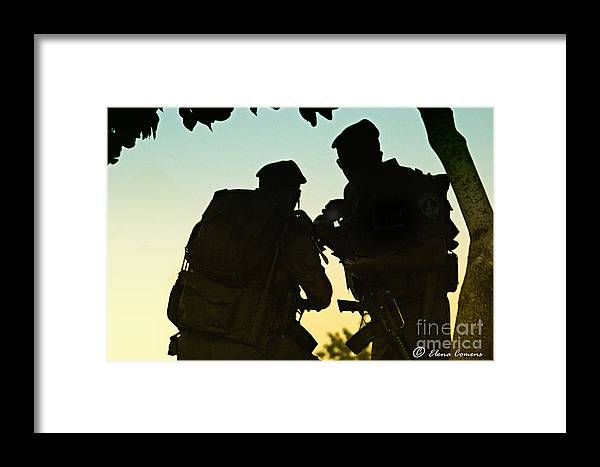Jerusalem Framed Print featuring the photograph Protecting Jerusalem by Elena Comens