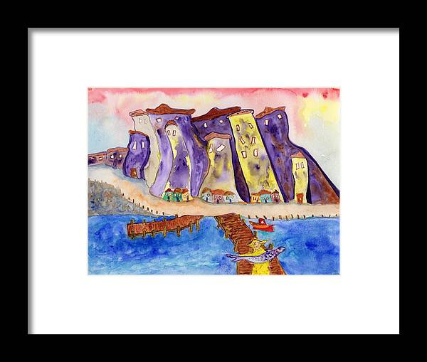Jim Taylor Framed Print featuring the painting Proud Fisherman by Jim Taylor
