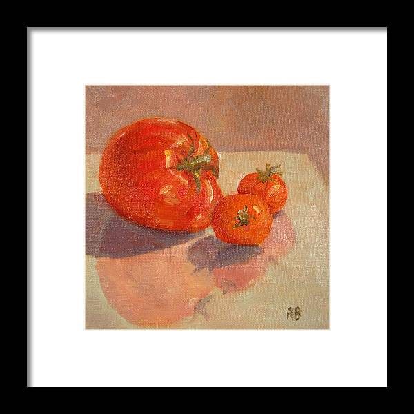Tomatoes Framed Print featuring the painting Proud Mama by Robie Benve