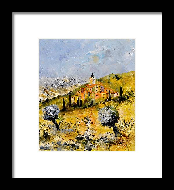 Landscape Framed Print featuring the painting Provence 78314030 by Pol Ledent
