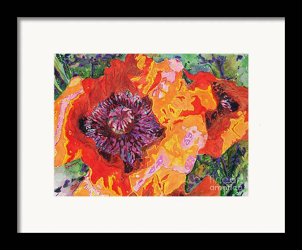 Poppy Framed Print featuring the painting Psychedelia by Patricia Henderson