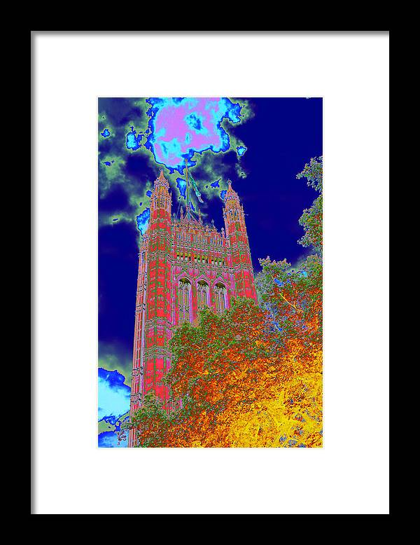 Westminster Framed Print featuring the photograph Psychedelic Westminster by Richard Henne