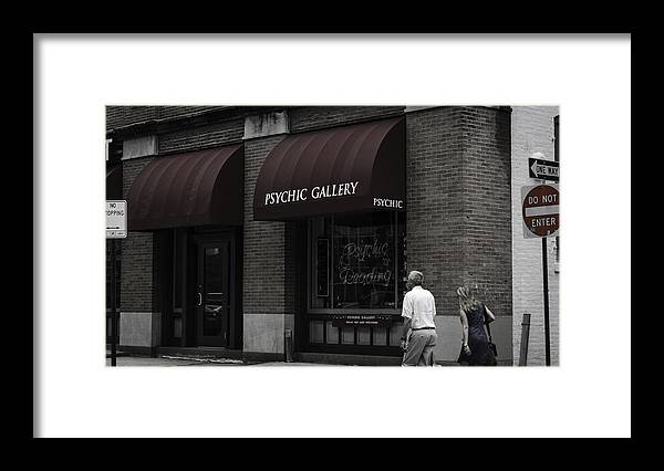 Psychic Framed Print featuring the photograph Psychic Gallery by Ryan Routt