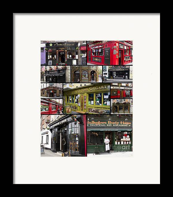 Pubs Framed Print featuring the photograph Pubs Of Dublin by David Smith