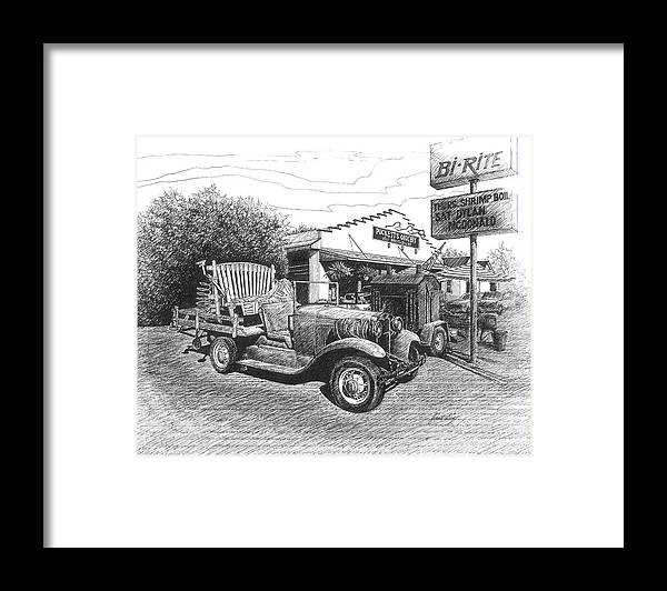 Leipers Fork Framed Print featuring the drawing Puckett's Grocery And Restuarant by Janet King