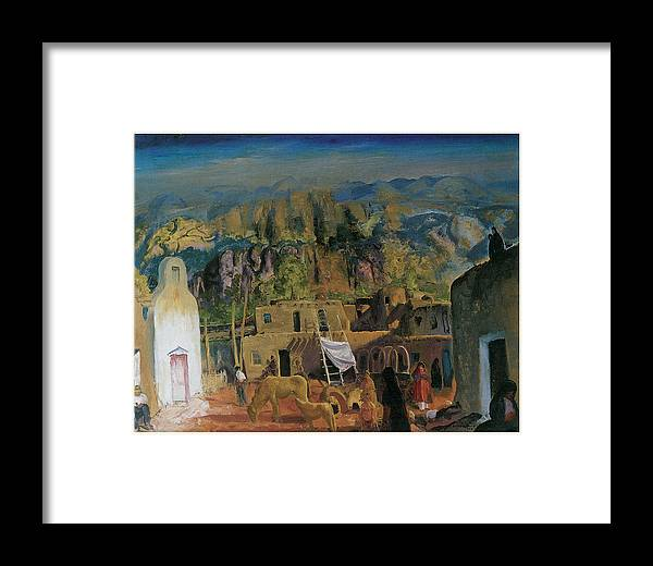 George Bellows Framed Print featuring the painting Pueblo Tesuque Number One by George Bellows