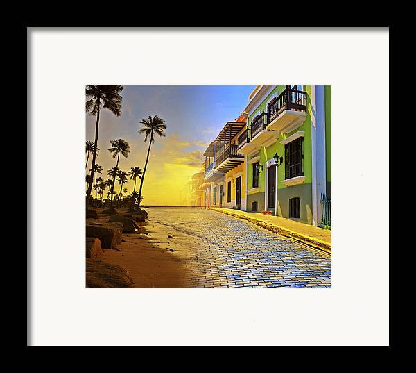 Puerto Rico Framed Print featuring the photograph Puerto Rico Collage 2 by Stephen Anderson