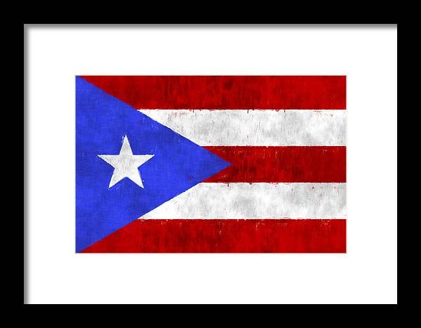 Aruba Framed Print Featuring The Digital Art Puerto Rico Flag By World Prints And Designs