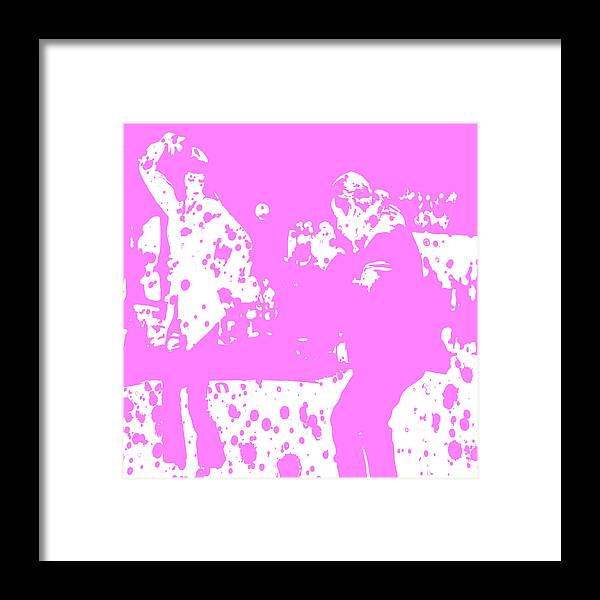 Pulp Fiction Framed Print featuring the digital art Pulp Fiction Dance Purple by Brian Reaves