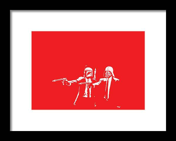 Star Wars Framed Print featuring the digital art Pulp Wars by Patrick Charbonneau